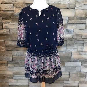 Dresses & Skirts - Blue colorful floral dress
